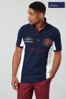 Joules Blue Brookfield Embellished Polo with Side Panels