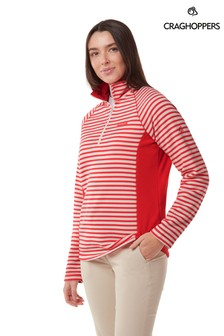 Craghoppers Red Aisha Half Zip Fleece
