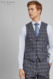Ted Baker Blue Sterling Check Waistcoat
