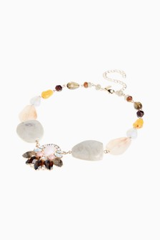 Beaded Crystal Effect Necklace