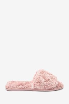 Faux Fur Slider Slippers