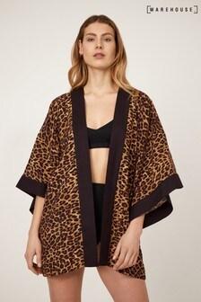 Warehouse Leopard Print Kimono