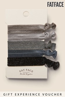 Fatface Grey 5 Pack Hair Ties