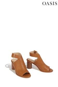 Oasis Tan Felicity Peep Toe Sandals