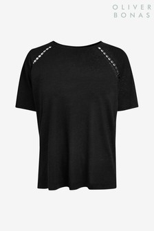 Oliver Bonas Crochet Trim T-Shirt