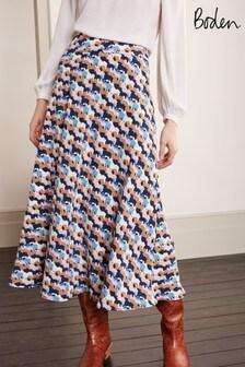 Boden Blue Stackpole Midi Skirt