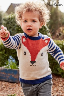 Boden Blue Fox Cub Jumper