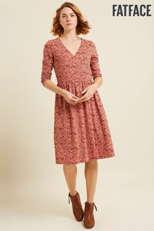 FatFace Blush Eadie Brushstroke Floral Dress