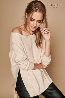 Sonder Cream Seam Detail Batwing Jumper
