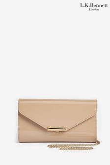 L.K.Bennett Brown Lucy Envelope Clutch