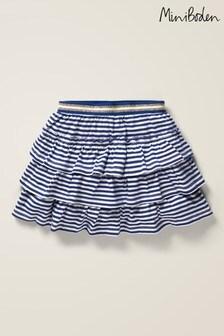 Boden Blue Jersey Ruffle Skirt