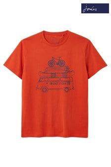 Joules Orange Flynn Graphic Print Crew Neck T-Shirt