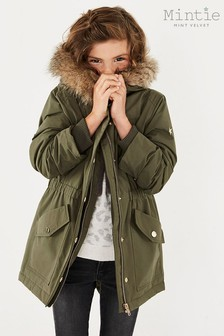 Mintie by Mint Velvet Green Showerproof Parka