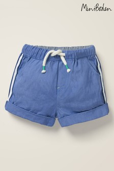 Boden Blue Woven Pull-On Shorts