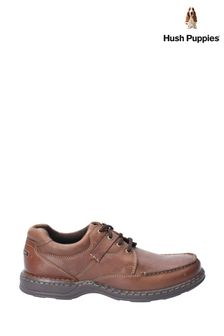 Hush Puppies Brown Randall II Lace-Up Shoes