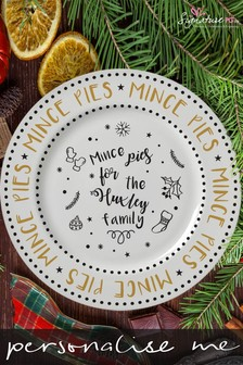 Personalised Mince Pies Serving Plate by Signature PG