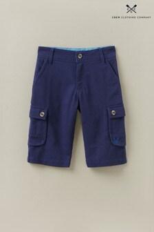 Crew Clothing Blue Cargo Shorts