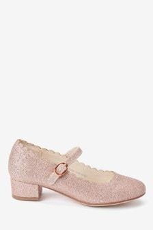 Scalloped Mary Jane Heels (Older)