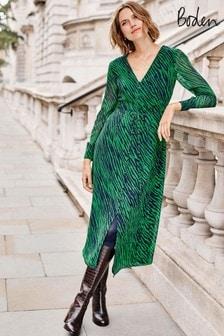 Boden Green Hazel Midi Dress
