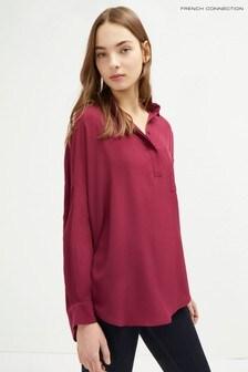 قميص بجيب Light Plains كريب وردي من French Connection