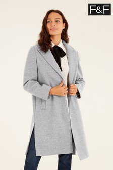 F&F Grey Unlined Formal Coat
