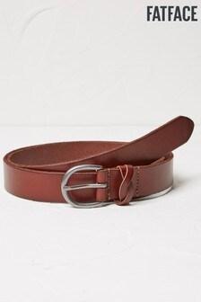 FatFace Brown Plait Keeper Leather Belt