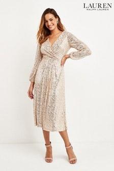 Lauren Ralph Lauren® Nude Sequin Bowen Dress