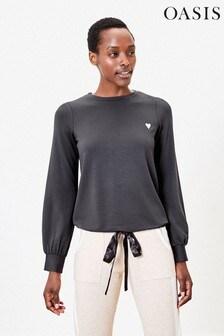 Oasis Grey Foil Lip Sweater