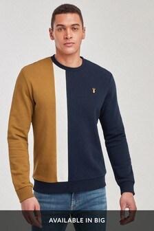 Vertical Stripe Crew Sweater