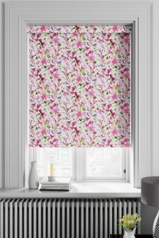 Watercolour Floral Pink Made To Measure Roller Blind