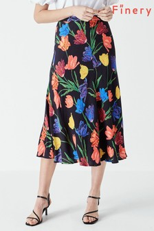 Finery Black Ayla Printed Skirt