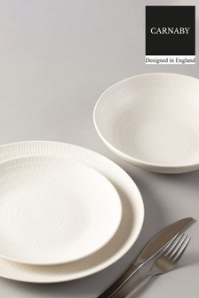 12 Piece Carnaby Textured Porcelain Dinner Set