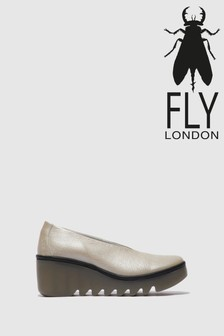 Fly London Closed Toe Slip on Wedge Shoes