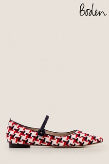 Boden Red Hallie Embellished Flats