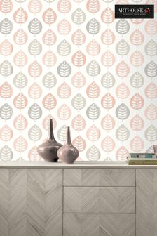 Arthouse Pink Amira Leaf Wallpaper
