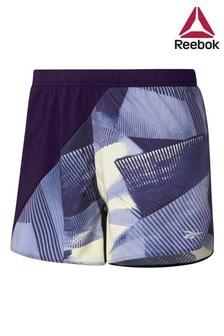 Reebok Purple All Over Print Shorts