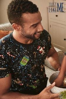 Weihnachts-T-Shirt mit Wendepailletten für Herren (Familienkollektion)