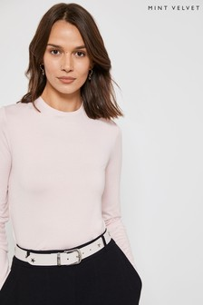 Mint Velvet Pink Blush Long Sleeved T-Shirt