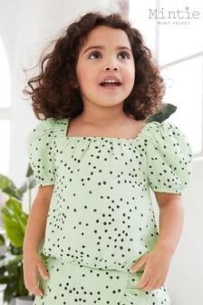 Mintie by Mint Velvet Lila Green Spot Top