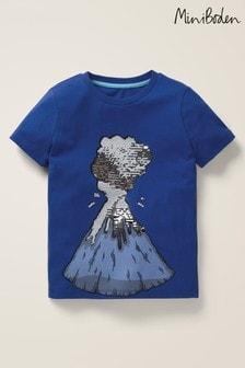 Boden Blue Colour Change Sequin T-Shirt