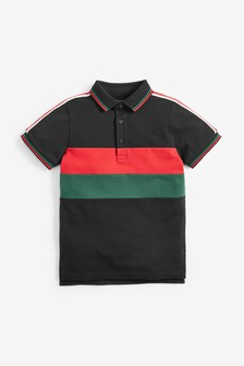 Colourblock Taped Poloshirt (3-16yrs)