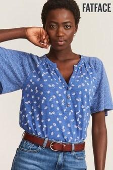 FatFace Blue Jamilla Daisy Patchwork T-Shirt