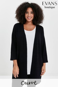 Evans Curve Black Tape Cardigan
