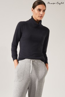 Phase Eight Grey Reni Roll Neck Knit Jumper