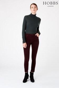 Hobbs Red Velvet Marianne Jeans
