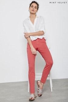 Mint Velvet Orlando Pink Crop Skinny Jeans