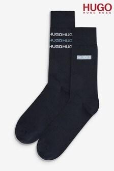 HUGO 2 Pack Blue Stripe Socks