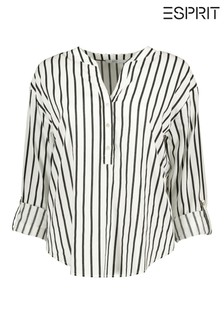 Esprit White Striped Blouse