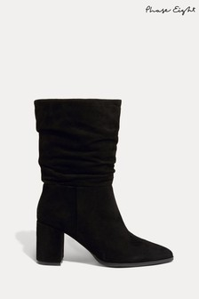 Phase Eight Black Sacha Block Heel Boots