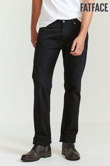 FatFace Black Straight Washed Black Jeans